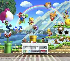 Super Mario Wall Mural Wall Art Quality Pastable Wallpaper Decal