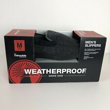 Weatherproof Gray  Men's Slippers with 3M Thinsulate Insulation Size 8-9