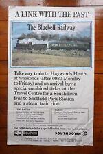 1985 Bluebell Region Original Railway Poster Southern Region