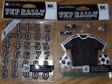 Pep Rally Black Soccer Dimensional Stickers Embroidered Varsity Number Stickers