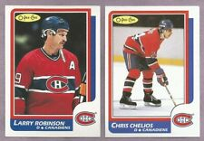 1986-87 OPC O-PEE-CHEE Montreal Canadians Team Set