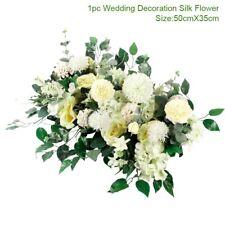 Artificial Flowers Silk Rose Plant Flower Wall Panels Venue Floral Wedding Decor