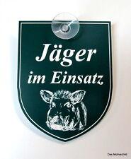 Jäger,im Einsatz,Jagd,Mit Sauger,9 x 7 cm,Gravurschild,Wildschwein,Keiler,Sau