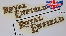 PAIR ROYAL ENFIELD OLD MODEL MOTORBIKE FUEL TANK LEFT RIGHT SIDE LOGO STICKER