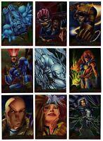 1995 Fleer Ultra Marvel X-Men Chromium Gold Signature You Pick Finish Your Set