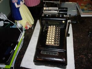 Rare Old Vintage Original Burroughs Adding Machine Great Condition Circa 1900's