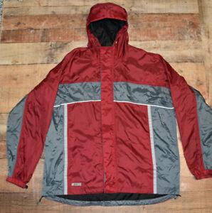 STEARNS Dry Wear Waterproof Hooded Nylon Full Zip Rain Gear Raincoat Men XL EUC