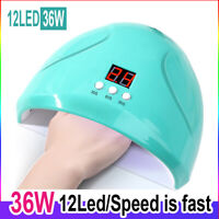 36W 12 LED UV/Sunlight Nail Dryer Lamp Gel Polish Curing Manicure Machine Sensor