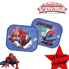 2 x Spider-man Window Car Sun Shades UV Blinds Visor Children Kids Baby Boy