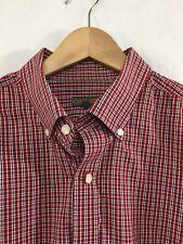 Mens XL Cherokee Christmas Red Green White Plaid Button Down Long Sleeve Shirt