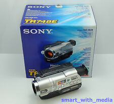 SONY HANDYCAM CCD-TR748E CAMCORDER BOXED HI-8 VIDEO-8 8MM ANALOGUE VIDEO CAMERA
