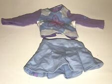 AMERICAN GIRL DOLL Just Like You MEET OUTFIT Blue Skirt Purple Shirt Clothes