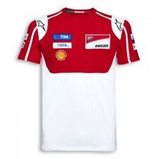 T-Shirt Tee Bicicleta Para Hombre MotoGP DUCATI Alpinestars patrocinador Motocicleta Rojo Nuevo!