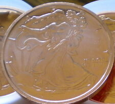 WALKING LIBERTY/ AMERICAN SILVER EAGLE Design - .999 Copper - Great 1 Ounce Coin