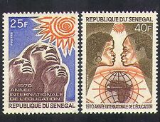 Senegal 1970 Education Year/People/Sun/Map/Animation 2v set (n36597)