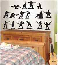 Army Men 16 pack Vinyl Wall Decal/Words/Quote/Sticker