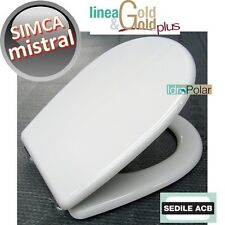 NUOVO SEDILE ASSE WC MISTRAL SIMCA BIANCO ACB ERCOS GOLD TAVOLETTA WATER ITALY