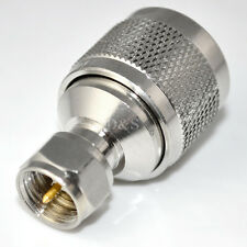 N Type Male Plug to F Male Plug Straight Adapter RF Coaxial Adapter Connector