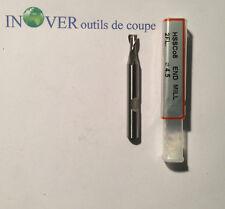 4.5mm Fraise HSSCO 8% Finition Z2 H30° Queue 6mm de YG1 avec Facture