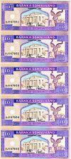 LOT Somaliland, 5 x 10 shillings, 1994, P-2, UNC