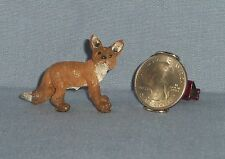 Dollhouse MINIATURE Wild Red Fox Forest Animal Resin Figurine