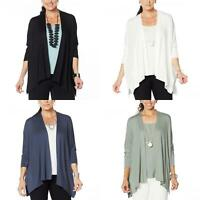nWT WynneLayers Womens Unconstructed Open-Front Knit Cardigan. 694606