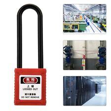Industrial Security Long Steel Padlock Shackle Padlock 2 Keys Safety Lock