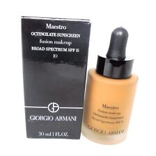 Giorgio Armani Octinoxate Sunscreen Fusion Makeup Foundation ~ 10 ~ 1.0 oz BNIB