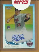 Kyle Gibson RC Auto 2013 Topps Chrome Rookie Autograph Refractor EXCH #'d /499