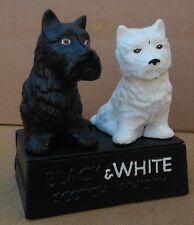 Buchanan`s Black & White Whisky advertising dogs Scotties A Lovely Gift !! (vo)