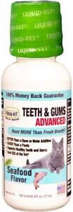 Liquid-Vet Teeth & Gums Support Seafood Flavor Cat Supplement, 8-oz bottle