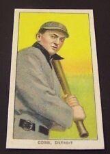 ( TY COBB ) 1909-11 T206 Reprint 150 Bat On Shoulder PIEDMONT Back Sports Card