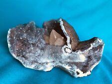 Marvelous Pointed Calcite On Chalcedony,From Nasik,Maharashtra,India