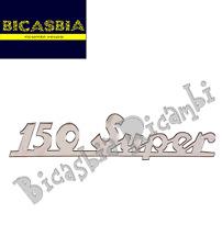 3694 - TARGHETTA POSTERIORE ALLUMINIO CROMATA 150 SUPER VESPA 150 SUPER VBC1T