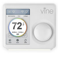 Vine Wi-Fi Smart Touchscreen Programmable Thermostat Android & iOS App | TJ610