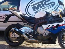 BMW S1000RR (2009-2014) Black Oval Single Outlet Road Legal MTC Exhaust