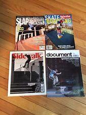Lot of 4 Old Skateboard Magazines SLAP, BIG BROTHER, SIDEWALK, DOCUMENT 2002-03