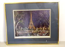Maurice Legendre Litography L Arc de Triomphe Le Moulin Rouge and Torre Eiffel