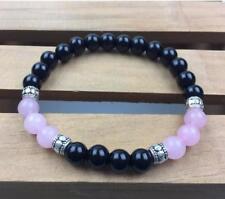 8mm obsidian rosequartz Bracelet men Meditation energy Lucky Chakas pray