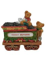 Teddy & Me Express Vtg 1995 Collectibles 80184 Resin Coal Car Christmas Train