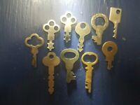 Antique Flat Skeleton Keys, Lot of 10