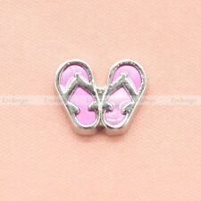 Floating Charms Mini Slipper For Glass Living Memory Lockets Free Shipping 1pc