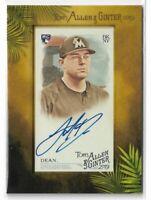 2019 Allen & Ginter Baseball Mini Framed Autograph Austin Dean Miami Marlins RC