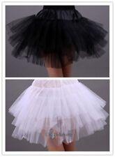 Girls 3 Layers Short Net Petticoat Costume Fancy Tutu-Underskirt UK6 Black/White