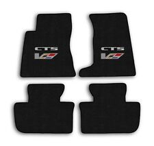GGBAILEY D50879-F1A-BLK/_BR Custom Fit Car Mats for 2008 2010 Cadillac CTS Sedan Black with Red Edging Driver /& Passenger Floor 2009