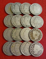Count of 16 - Liberty Head (Barber) Nickels