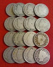 Count of 16 - Liberty Head (Barber) Nickels