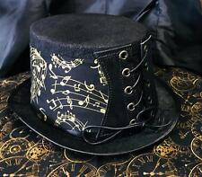Steampunk Top Hat  Corset Musical Treble  Clef  Biker Gothic Rock feeanddave