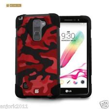 Red Camo Shockproof Case w/Stand Cover for LG Stylo 2 LS775 Stylus 2 L82VL