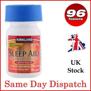Kirkland SleepAid Sleeping Pill Doxylamine Succinate Insomnia 25mg Tablets x96